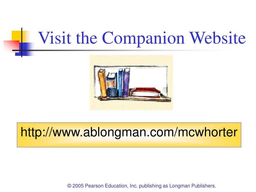 Visit the Companion Website