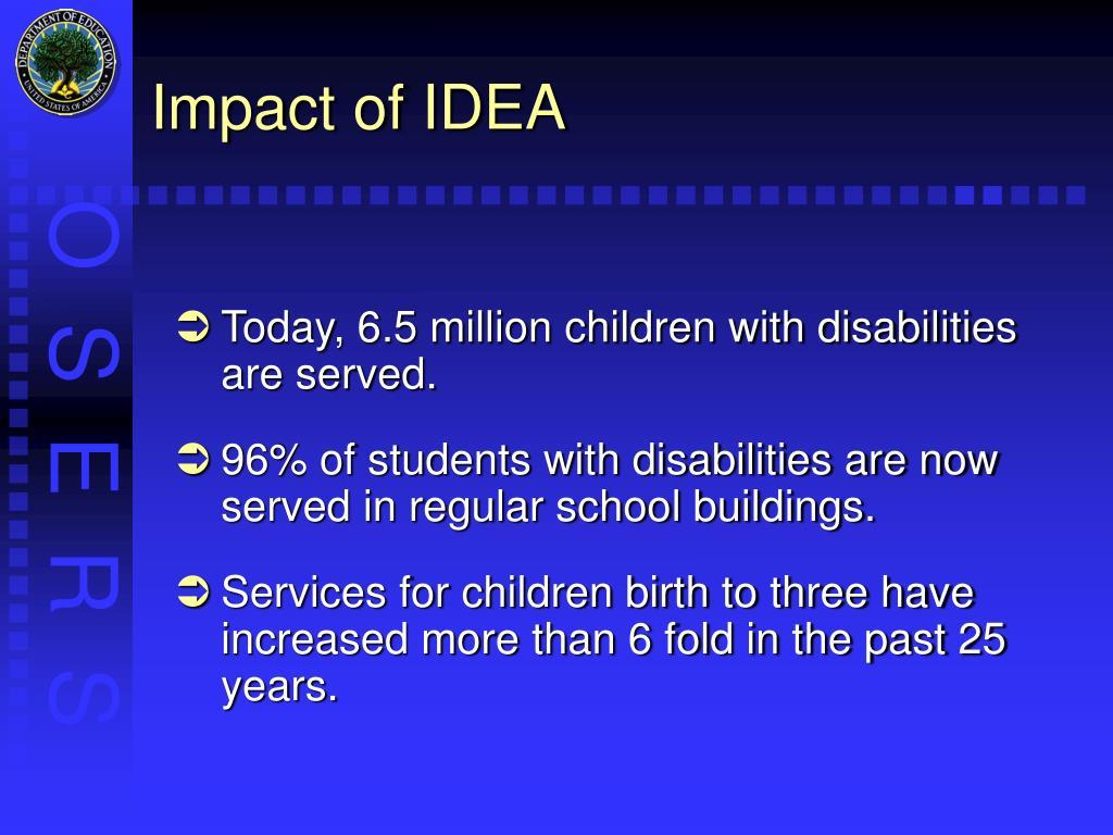 Impact of IDEA