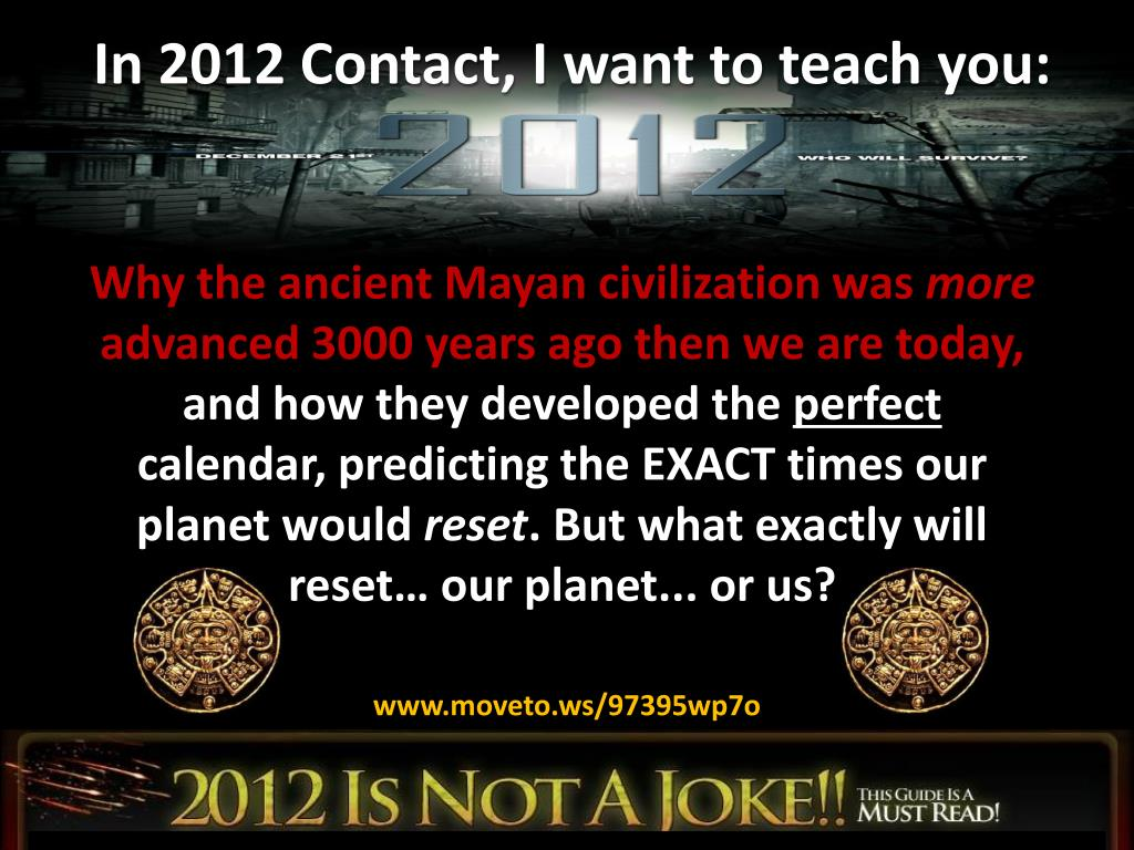 In 2012 Contact, I want to teach you: