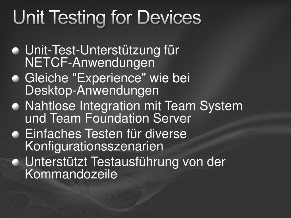 Unit Testing for Devices