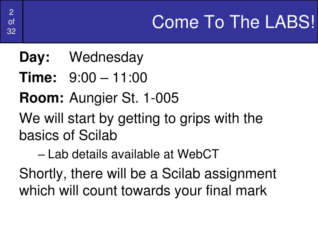 Come To The LABS!