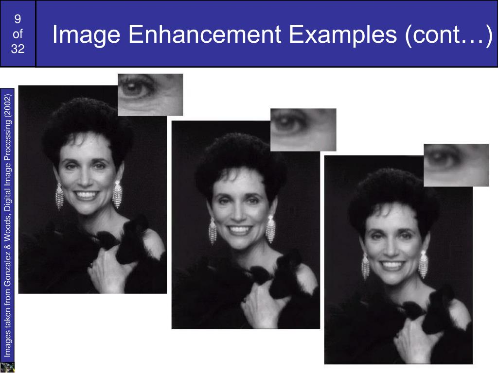 Image Enhancement Examples (cont…)
