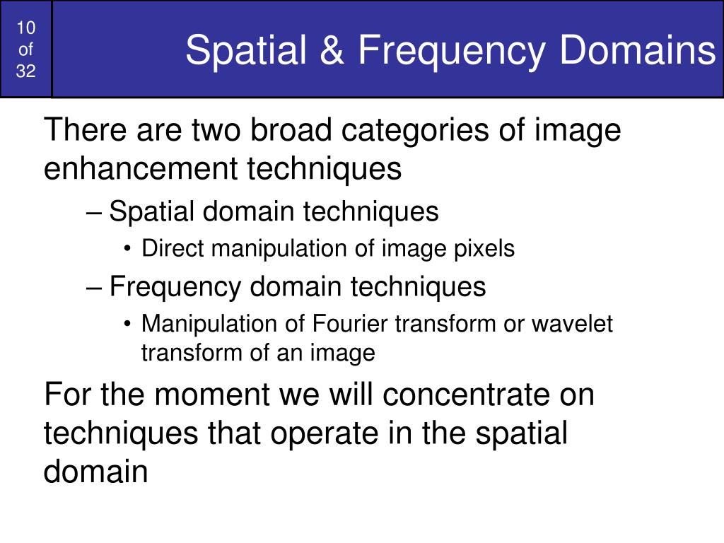Spatial & Frequency Domains