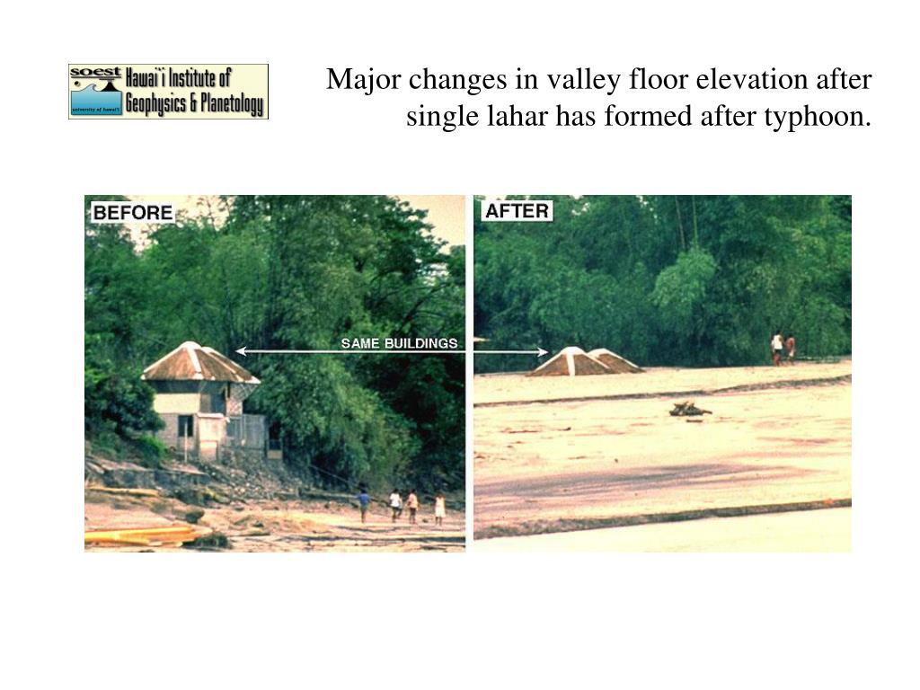 Floor Elevation Changes : Ppt geology and remote sensing of mt pinatubo taal