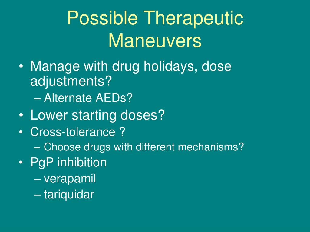Possible Therapeutic Maneuvers
