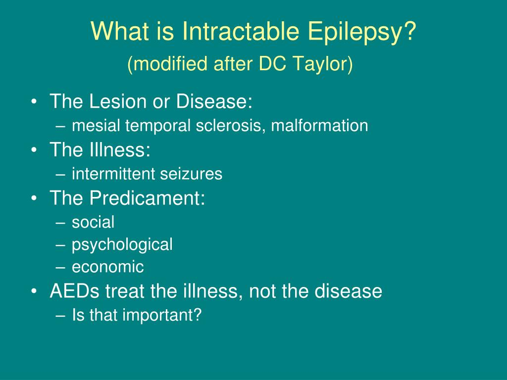 What is Intractable Epilepsy?