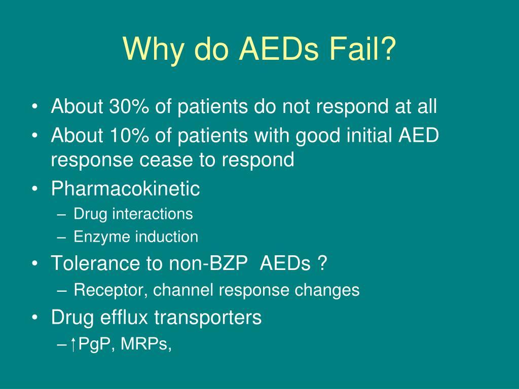 Why do AEDs Fail?