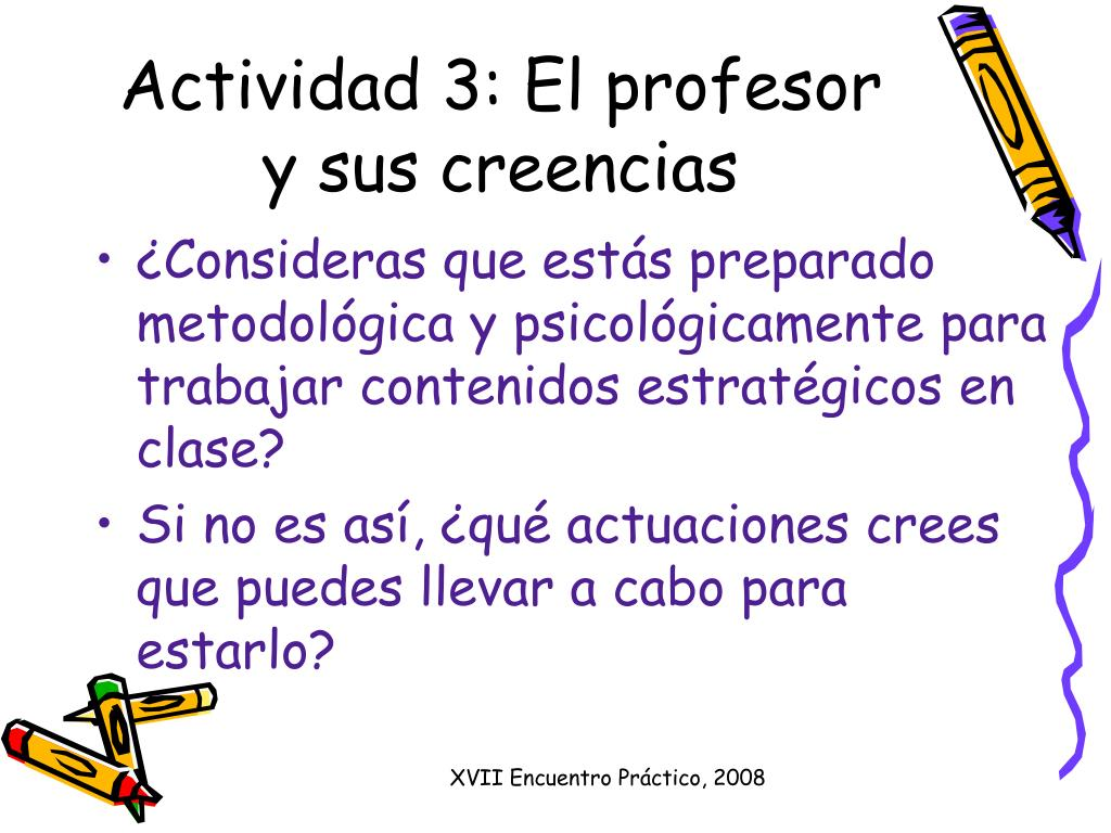Actividad 3: El profesor y sus creencias