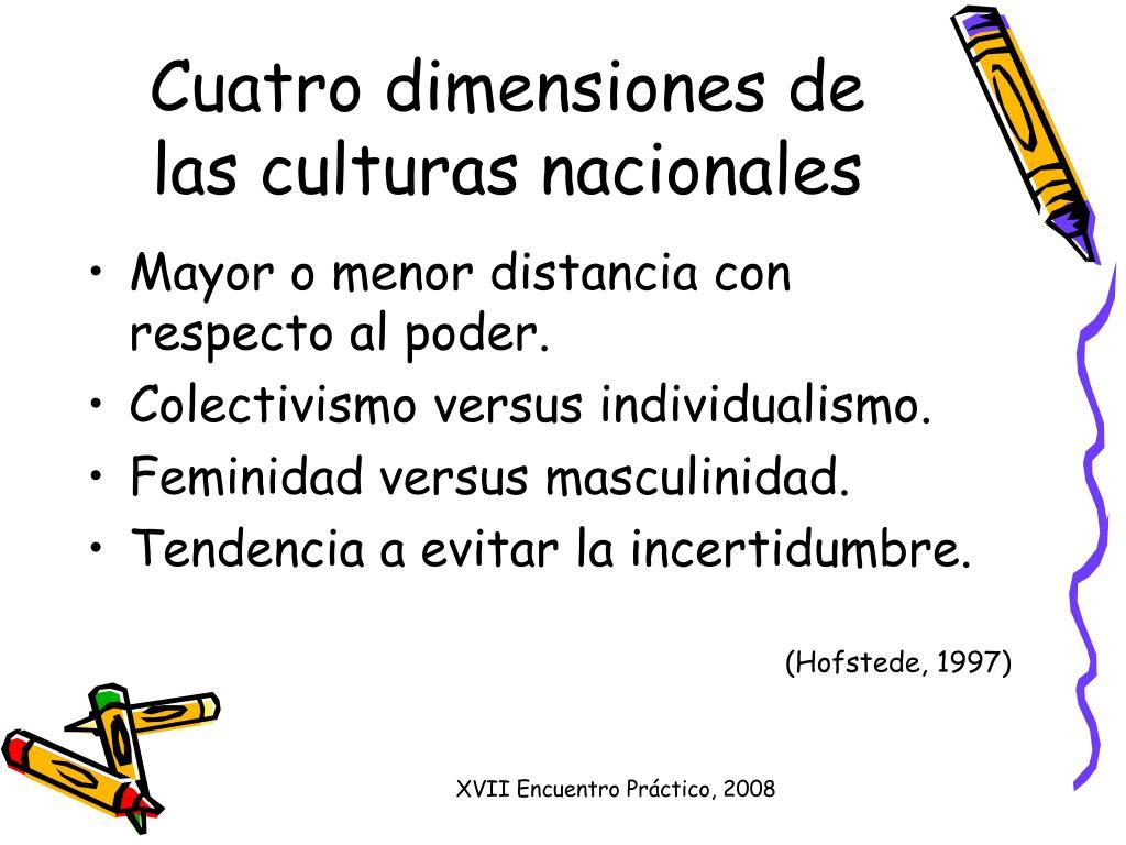 Cuatro dimensiones de las culturas nacionales