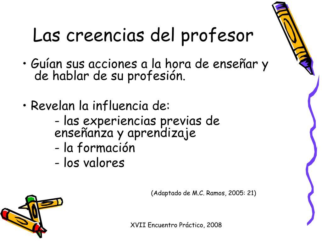 Las creencias del profesor