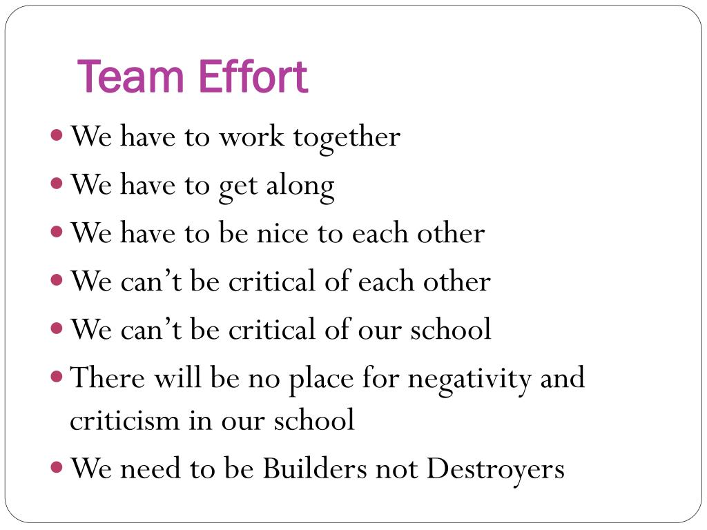 Team Effort