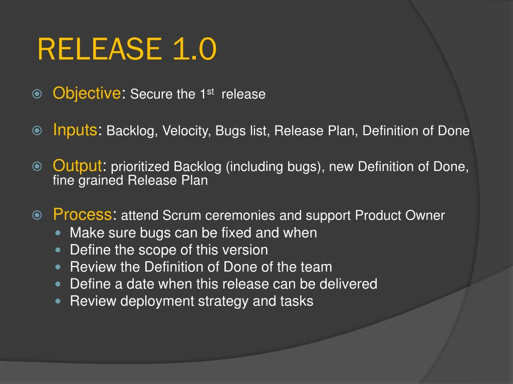 RELEASE 1.0