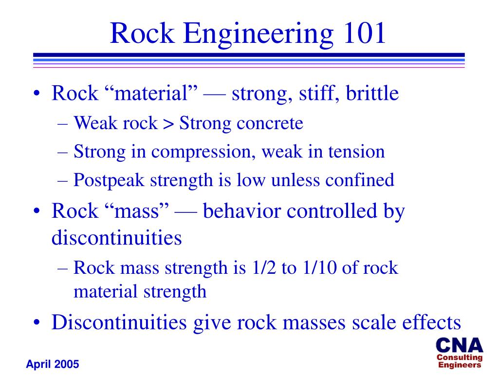 Rock Engineering 101