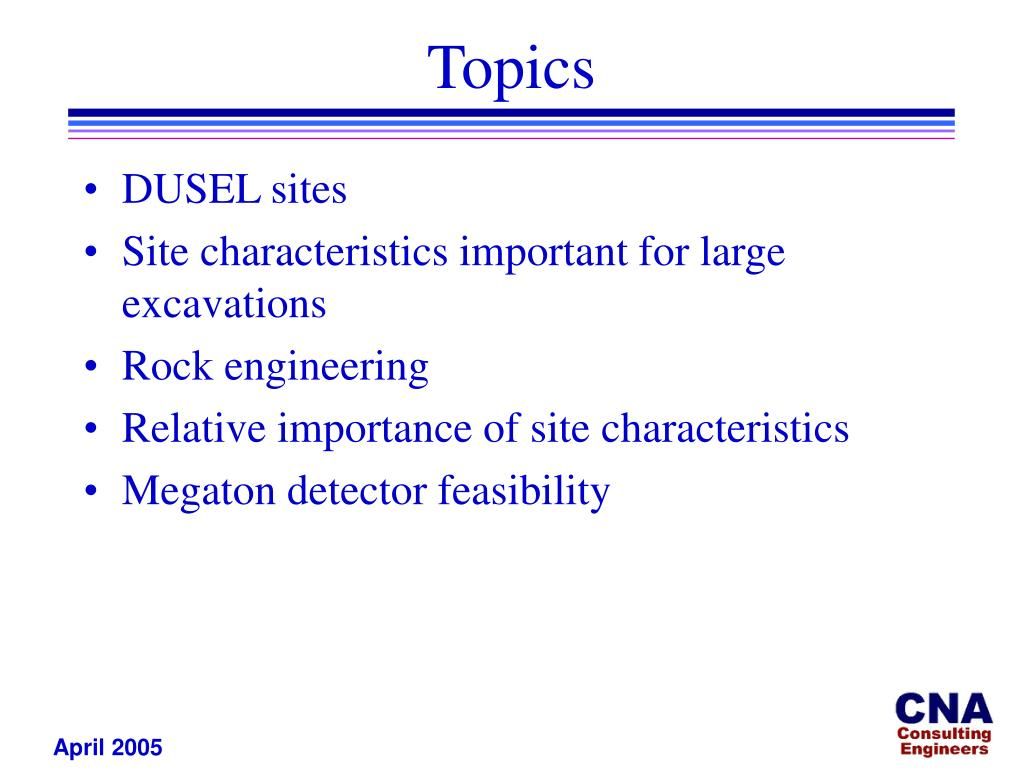 DUSEL sites