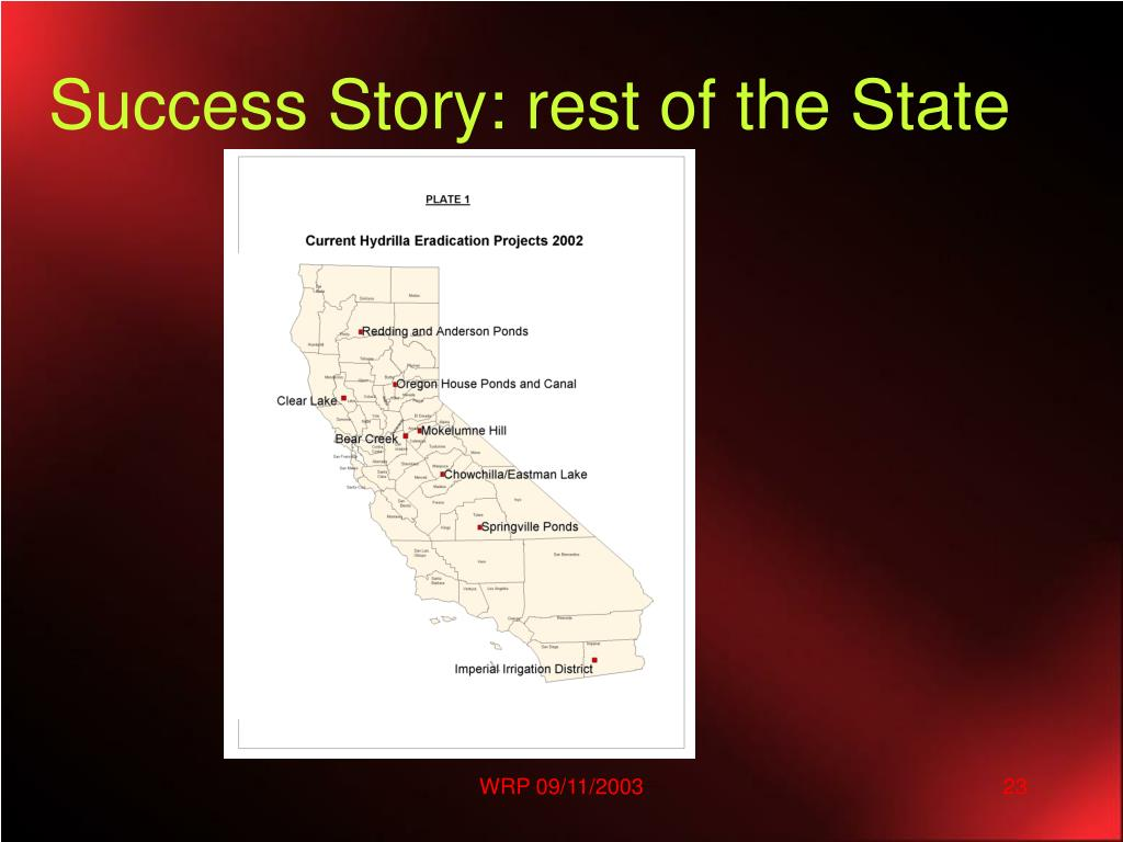 Success Story: rest of the State