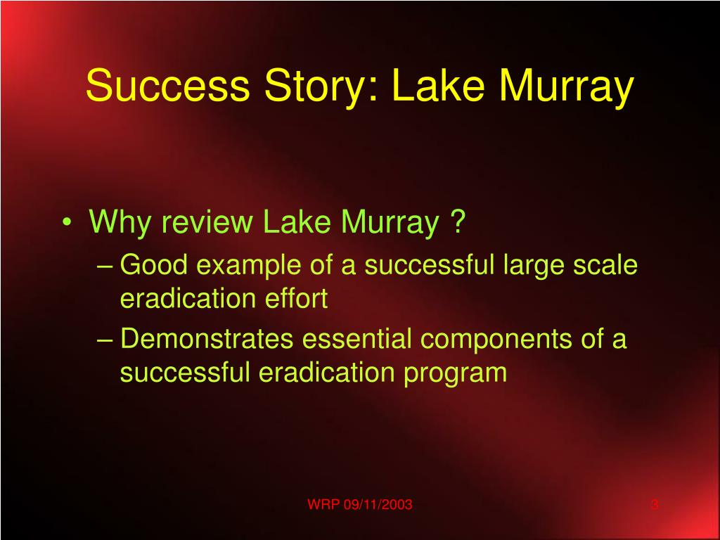 Success Story: Lake Murray