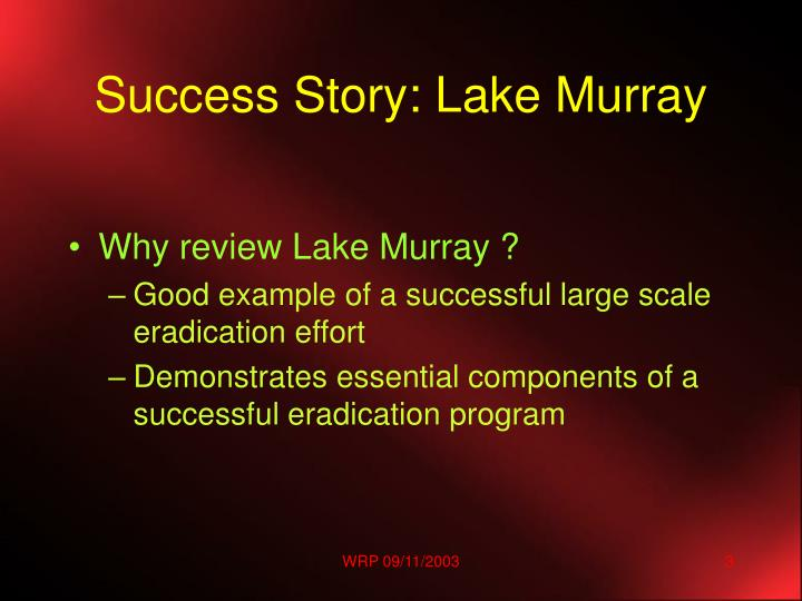Success story lake murray