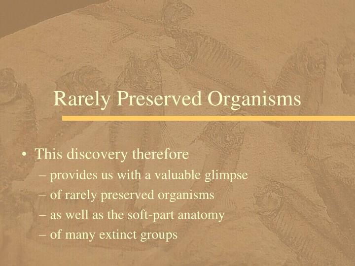 Rarely Preserved Organisms