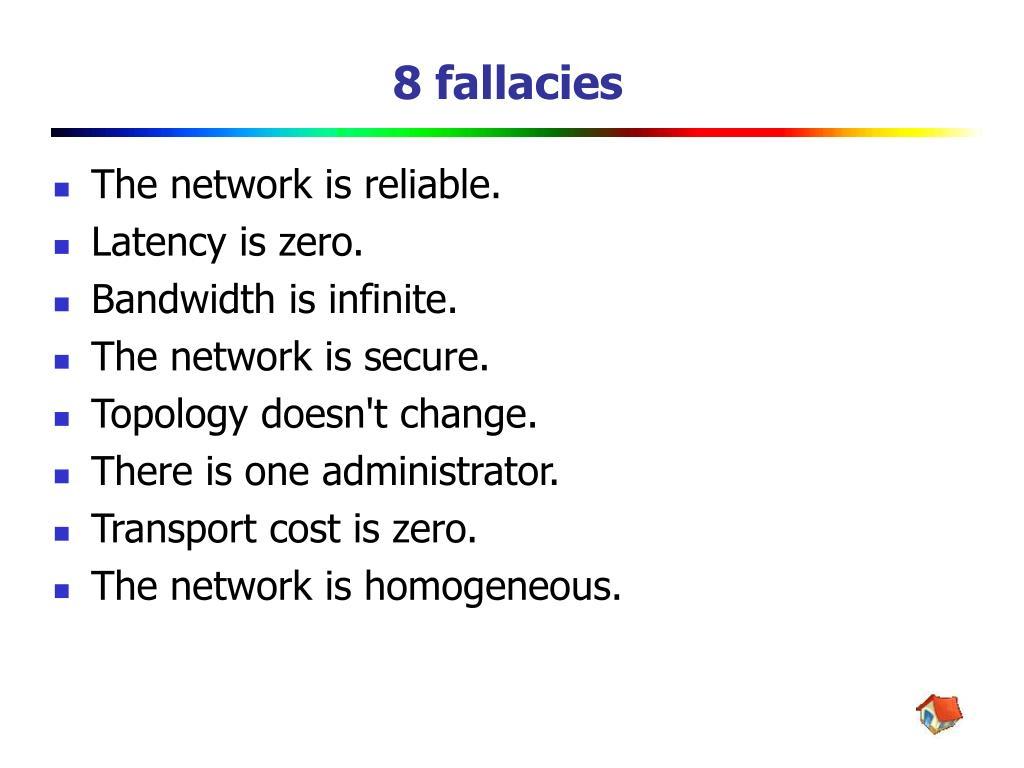 8 fallacies