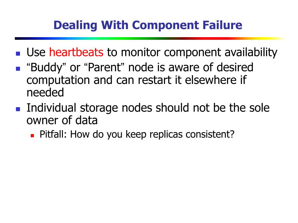 Dealing With Component Failure