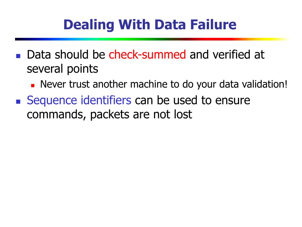 Dealing With Data Failure