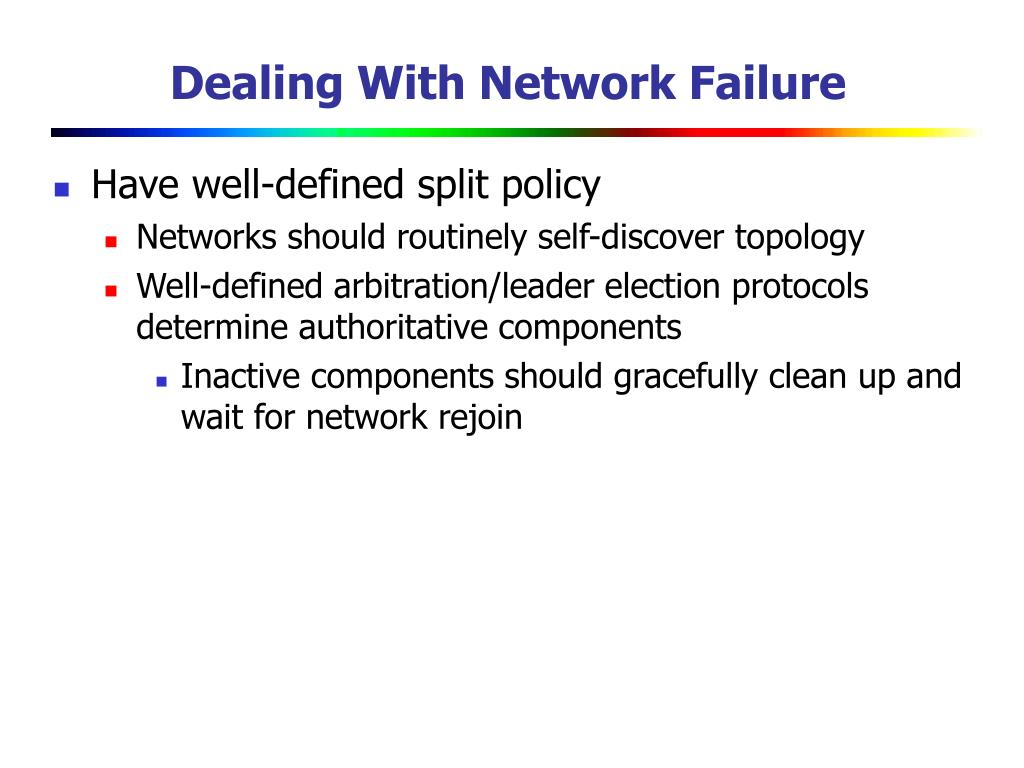 Dealing With Network Failure