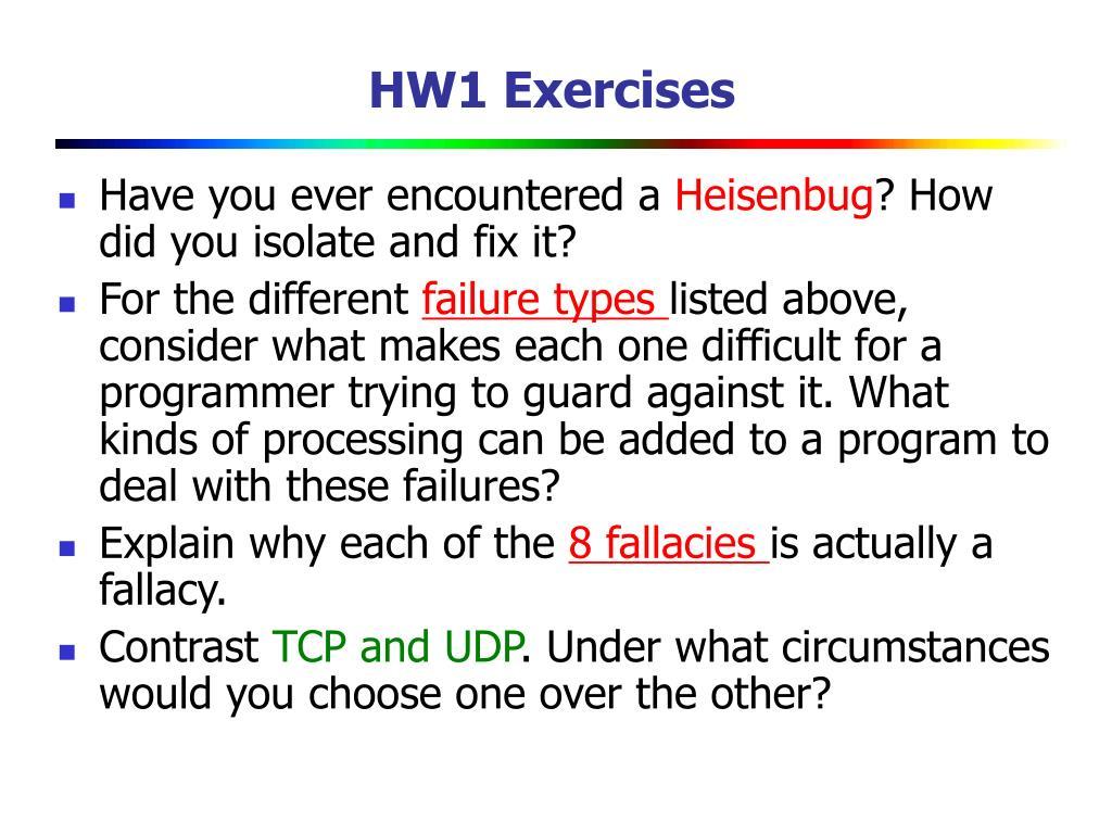 HW1 Exercises