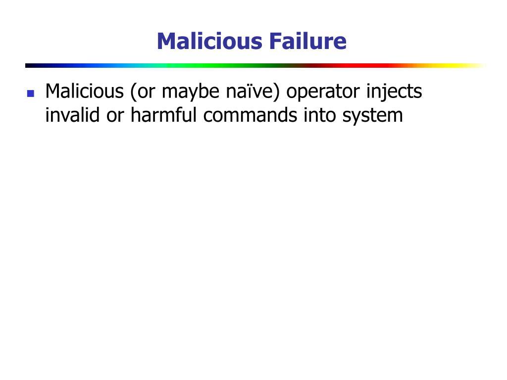 Malicious Failure