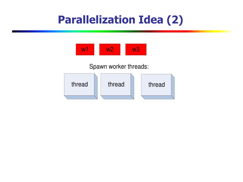 Parallelization Idea (2)