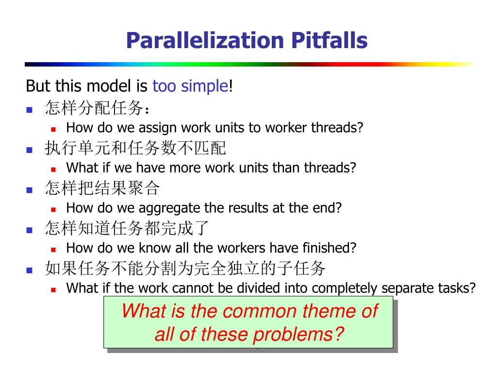Parallelization Pitfalls