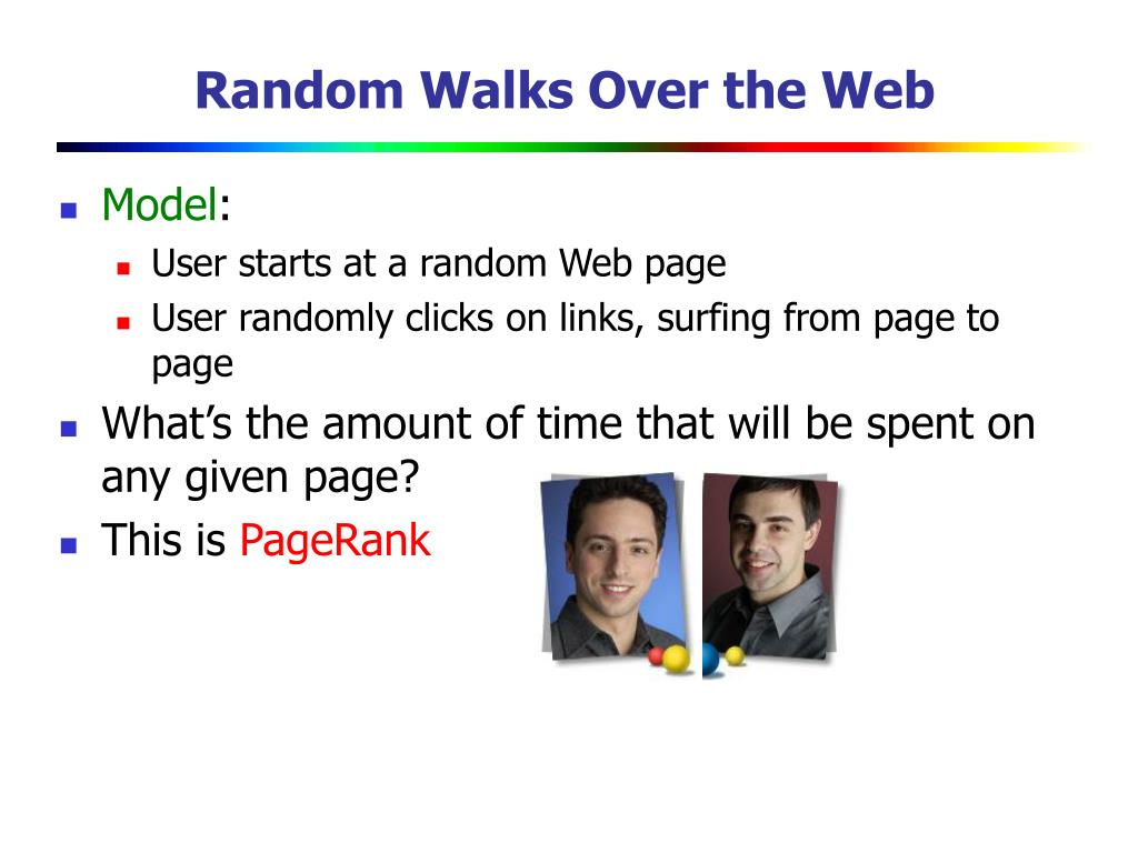 Random Walks Over the Web