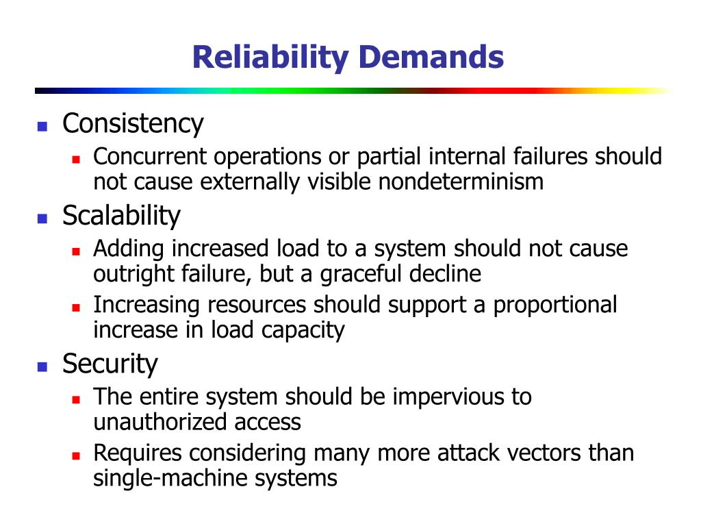 Reliability Demands