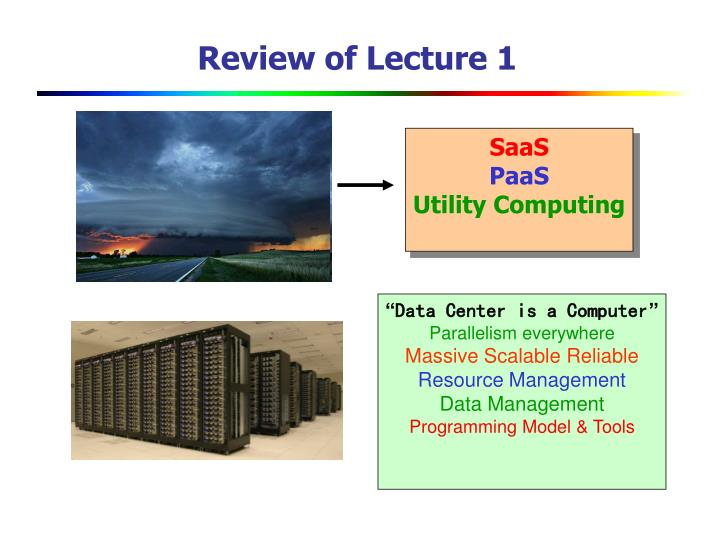 Review of lecture 1