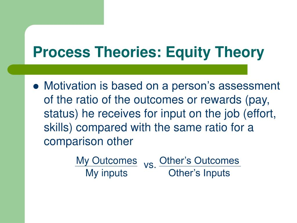 Expectancy theory of motivation applied
