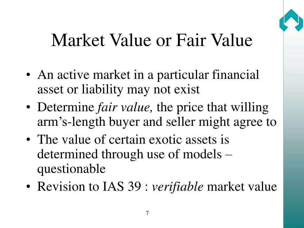 Market Value or Fair Value