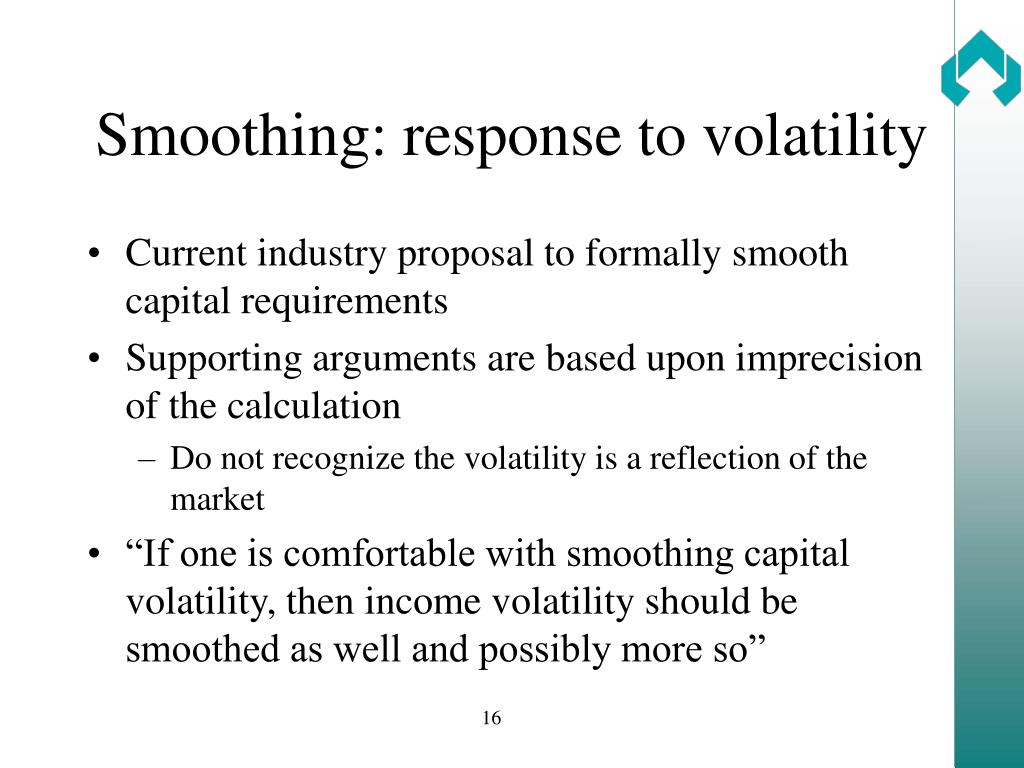 Smoothing: response to volatility