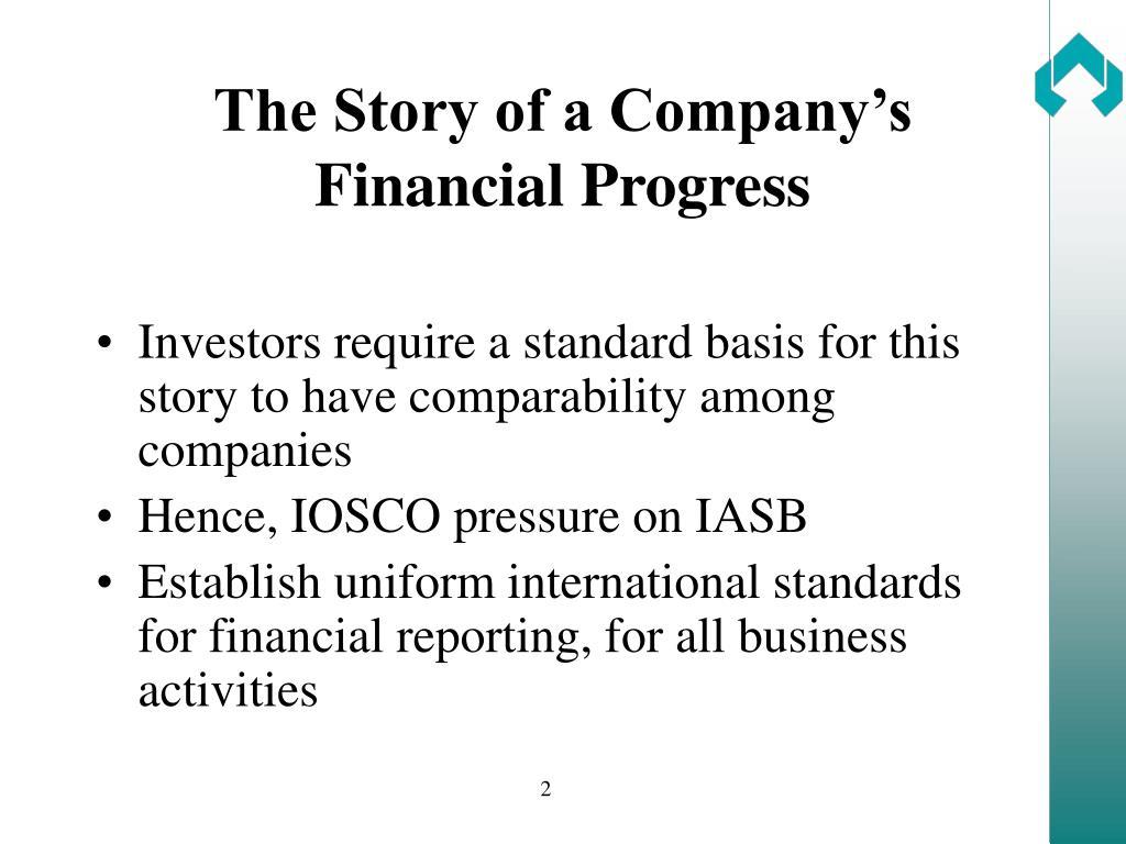 The Story of a Company's Financial Progress