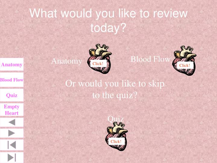 What would you like to review today