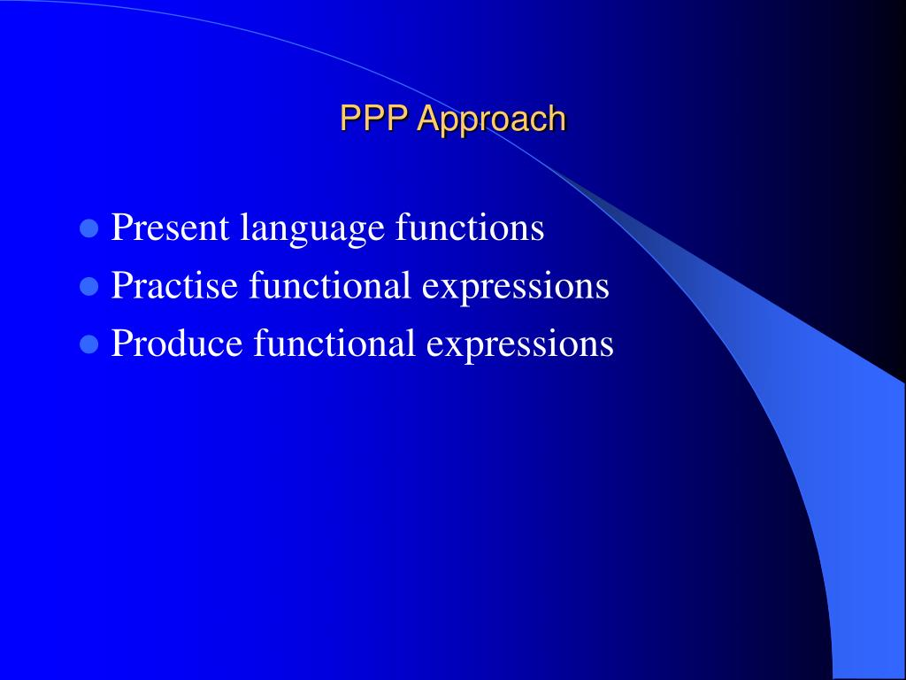 PPP Approach