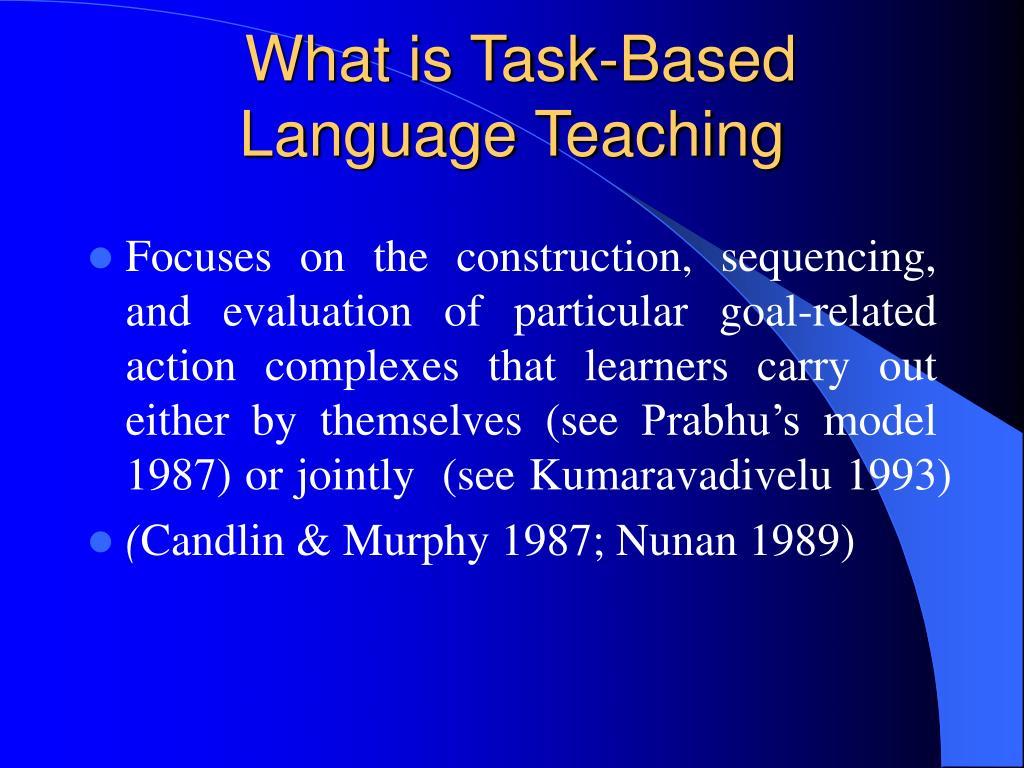 What is Task-Based Language Teaching