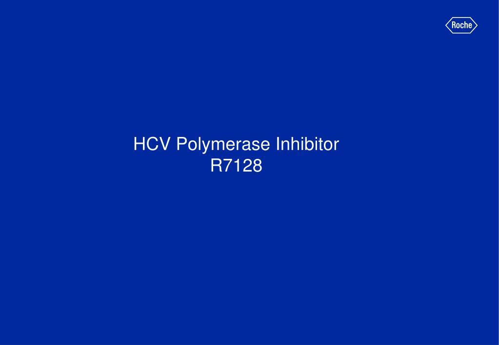 HCV Polymerase Inhibitor