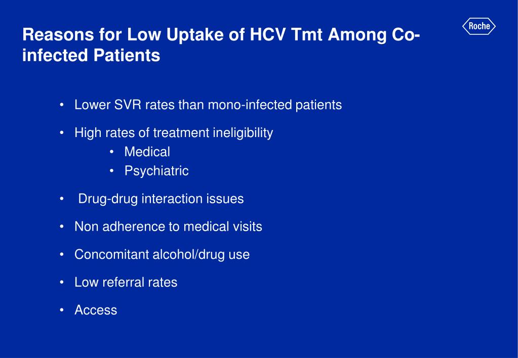 Reasons for Low Uptake of HCV Tmt Among Co-infected Patients