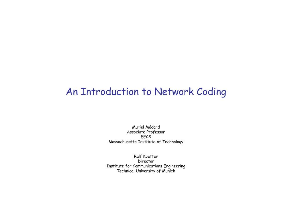 An Introduction to Network Coding