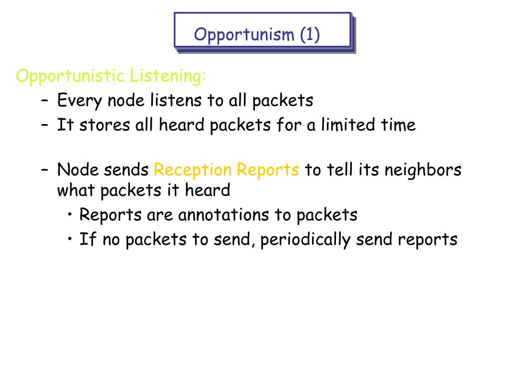 Opportunism (1)
