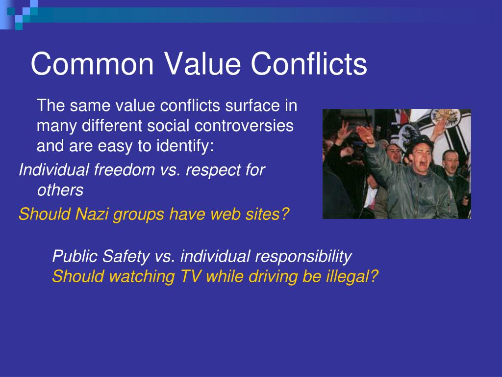 Common Value Conflicts
