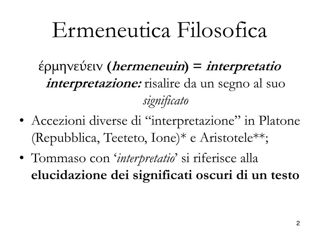 Ermeneutica Filosofica