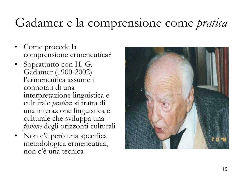 Gadamer e la comprensione come