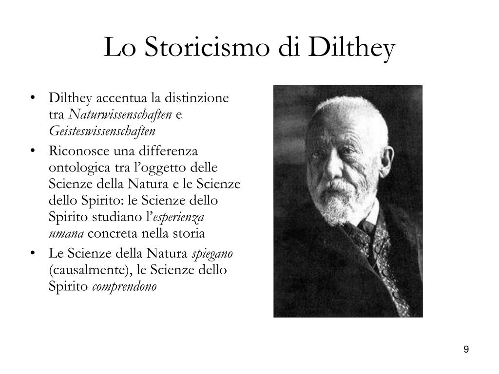 Lo Storicismo di Dilthey