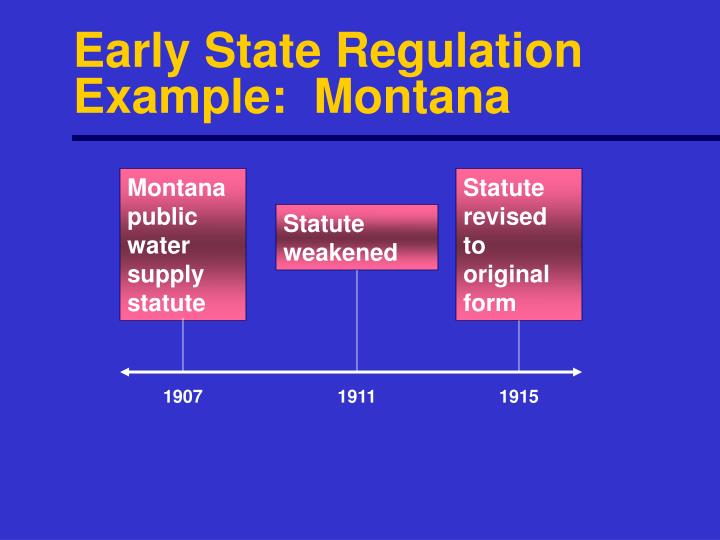 Early State Regulation