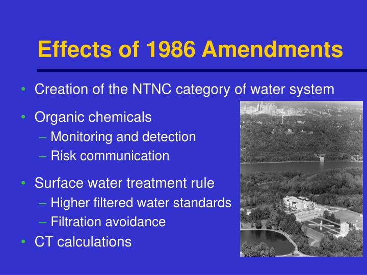Effects of 1986 Amendments